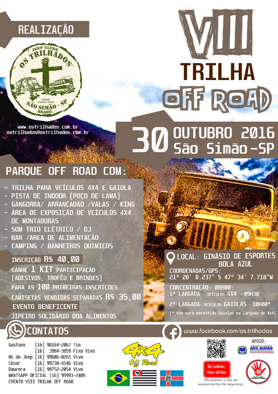 VIII Trilha Off Road